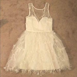 White Fashion Nova Midi Dress